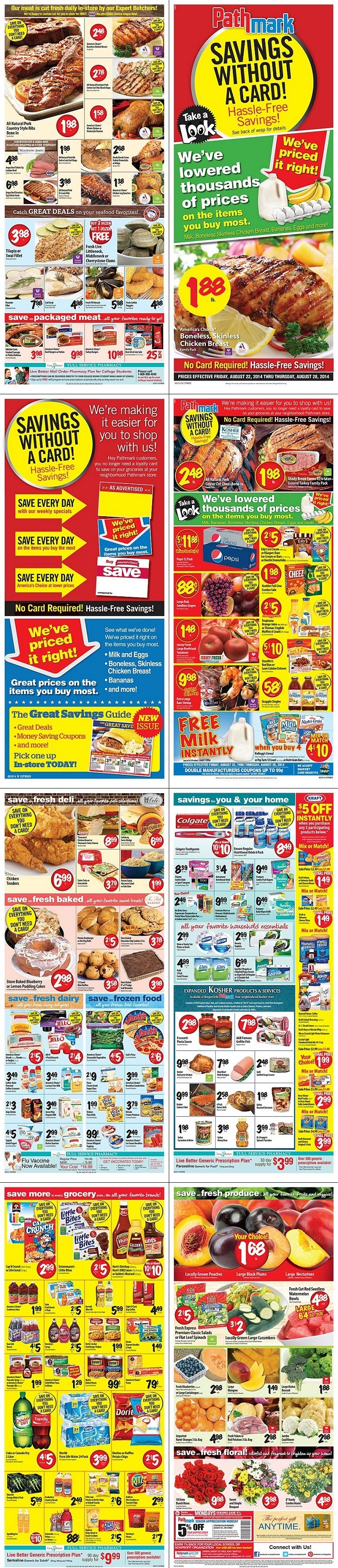 Where can you find the Pathmark weekly specials?