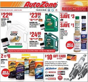 AutoZone Circular July 28 - August 24, 2015  Mothers M-Tech
